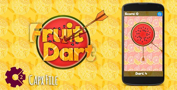 Fruit Dart Html5 Game Mobile Version Construct 2 Capx Cg Labz